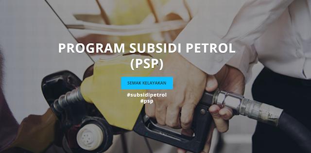semak permohonan program subsidi petrol (psp) 2020