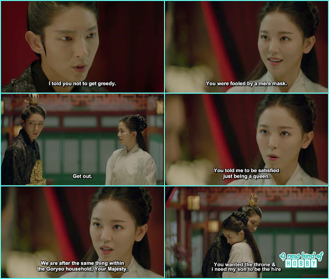 wang so told yeon ha to get out from here but she ask to act like a queen and want a ire for a throne - Moon Lovers Scarlet Heart Ryeo - Episode 18 (Eng Sub)