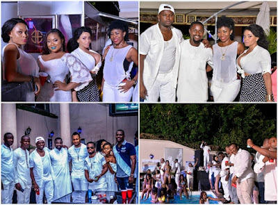 Cossy Orjiako, Vincent opurum & others storm Abuja All White Pool Party
