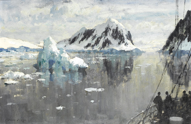 Edward Seago - Entering the Lemaire Channel, Antartica