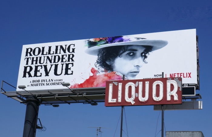 Bob Dylan Rolling Thunder Revue movie billboard