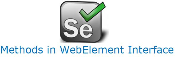 Methods in WebElement Interface