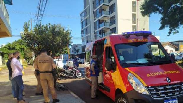 Motociclista fica ferido em acidente no Centro de Toledo
