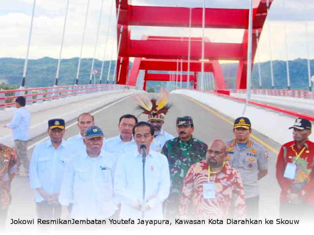 Jokowi ResmikanJembatan Youtefa Jayapura, Kawasan Kota Diarahkan ke Skouw