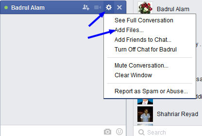 Send File on Facebook, Send File Via Message on Facebook