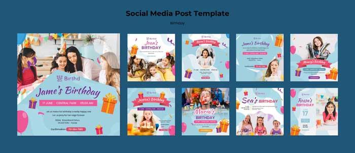 Birthday Celebration Social Media Post