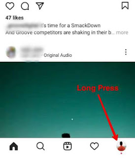 Instagram Long Press Feature