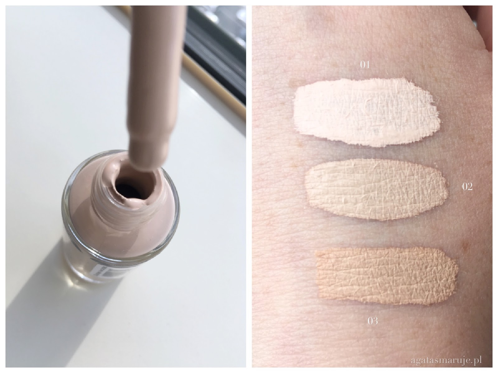 Bell Nude Liquid Powder swatche