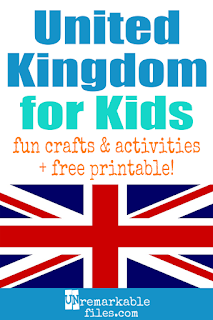 This week on our around-the-world geography learning adventure, I taught the kids all about the United Kingdom (UK.) It was a full week packed with hands-on activities and crafts to learn about England, Wales, Scotland, and more! Free printables, book lists, and recipes included. #unitedkingdom #uk #educational #aroundtheworld #kids