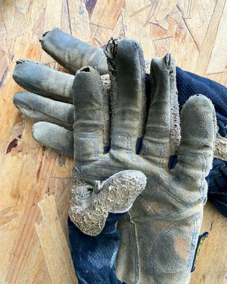 holey Mechanix gloves