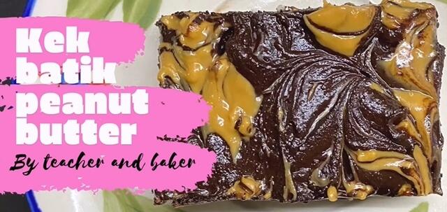 Kek Batik Peanut Butter