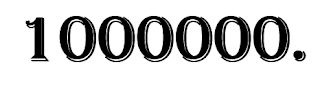 millionste
