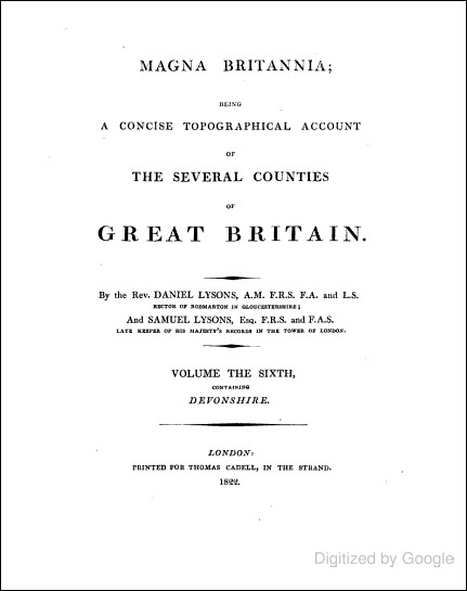 Magna Britannia - Vol 6 - Devonshire