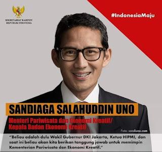 Alasan Sandiaga Uno Terima Tawaran Jadi Menteri