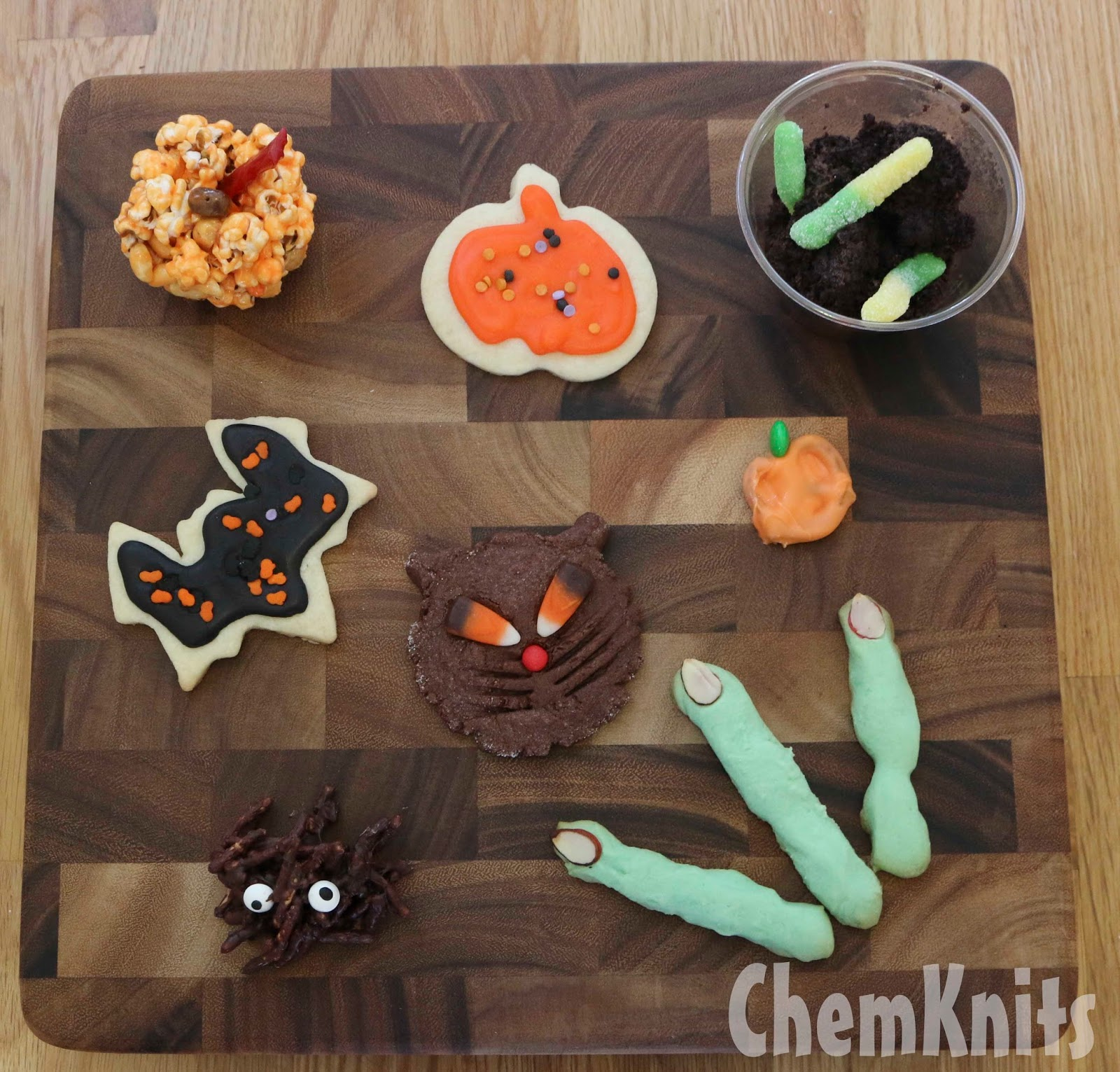 ChemKnits: Halloween Party Food