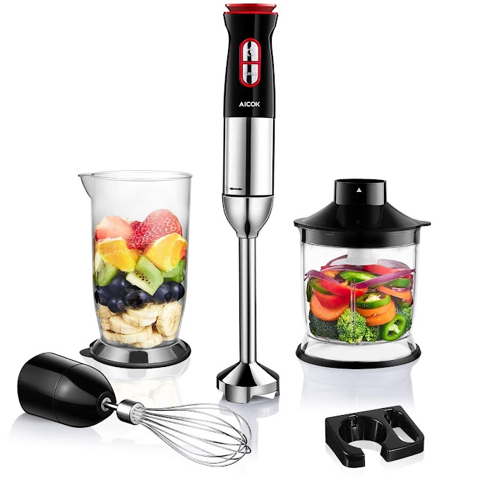 AMAZON - 45% off Aicok 4-in-1 Immersion Stick Blender with 12 Speed Control
