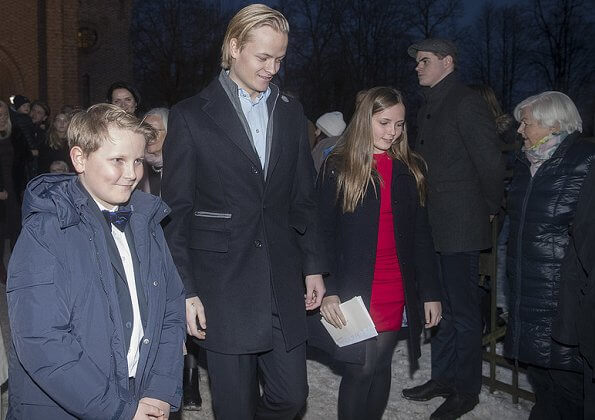Crown Prince Haakon, Princess Ingrid Alexandra, Prince Sverre Magnus and Marius Borg Høiby attended Christmas eve Service at Asker Church