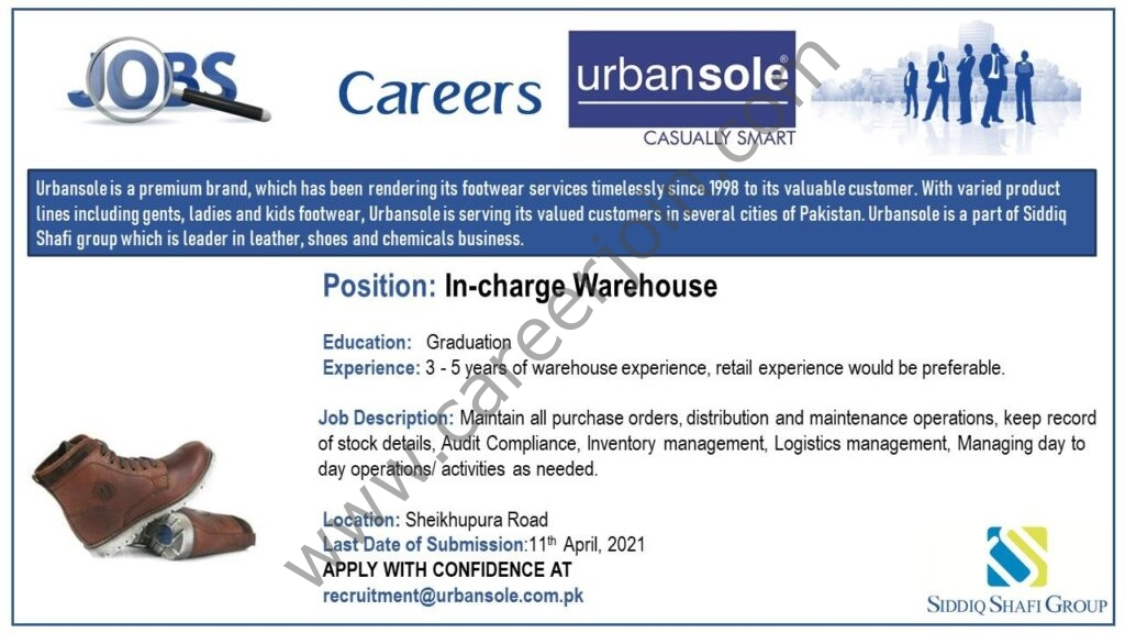 Latest Jobs 2021 in Urbansole