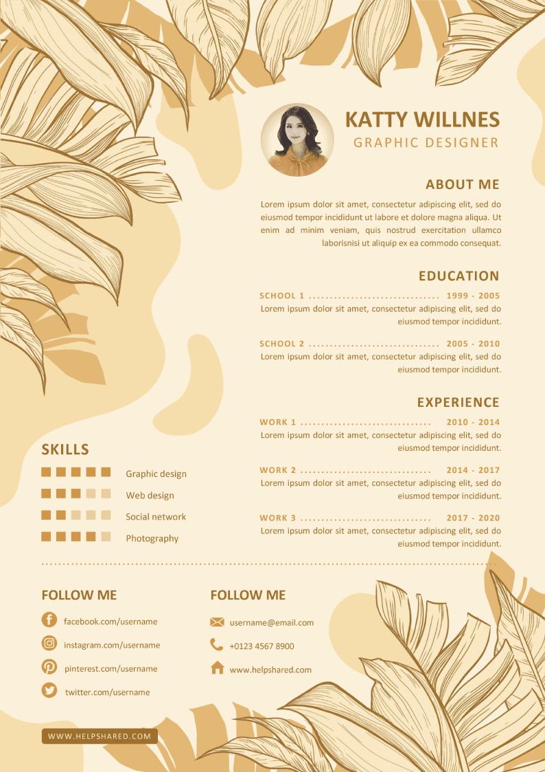 tropical cv template