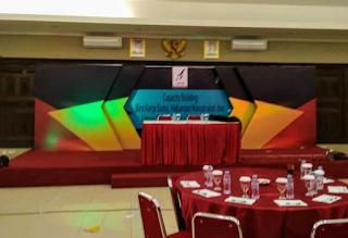 backdrop lighting gathering kantor perusahaan