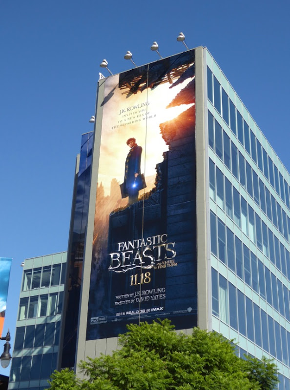 Giant Fantastic Beasts Where Find Them movie billboard