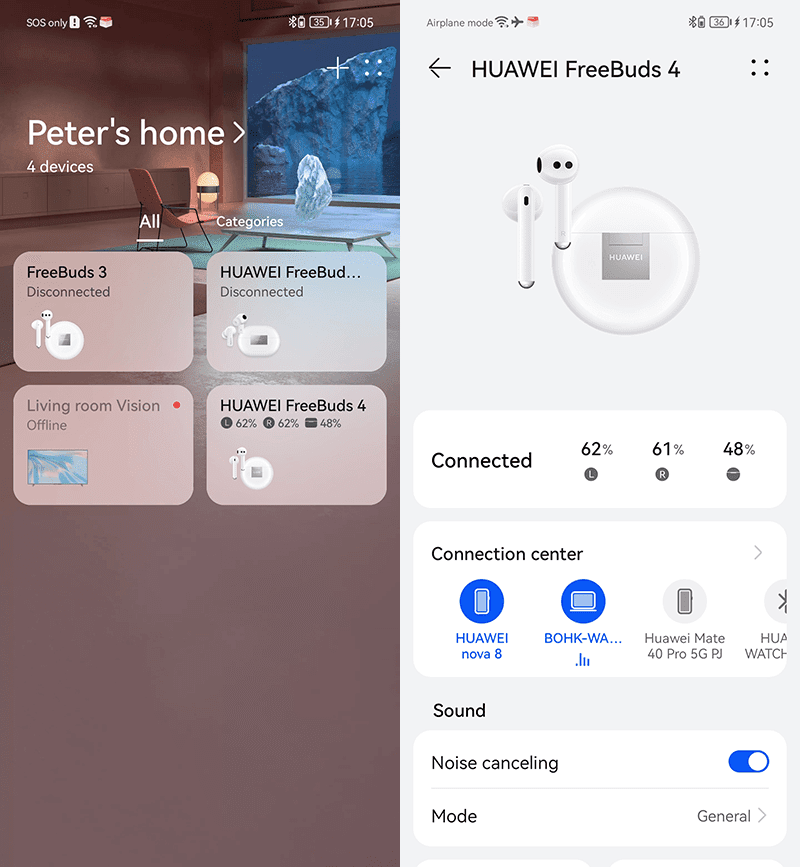 Interface of the AI Life app 1
