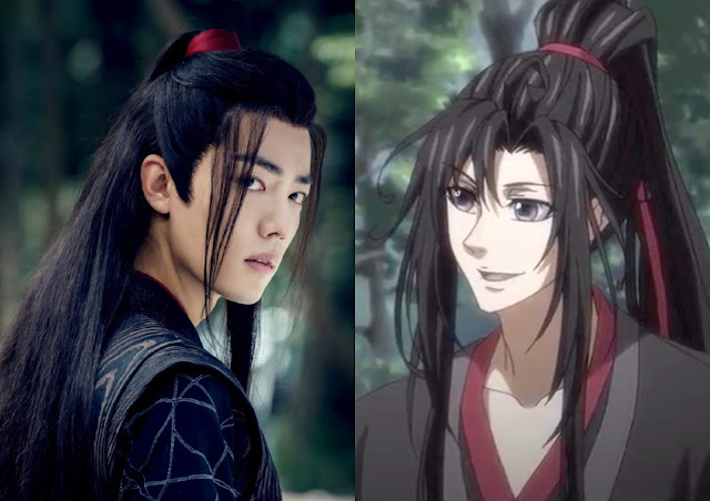 mo dao zu shi donghua and live action Xiao Zhan