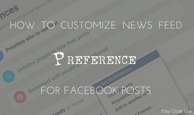Customize Facebook News Feed Preference