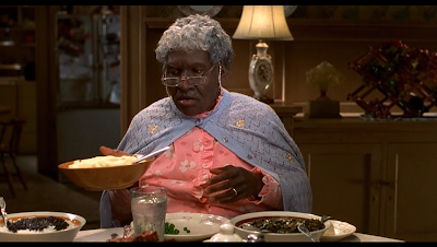 movie - The Nutty Professor - Eddie Murphy plays many roles in the film; here he is Grandma Klump