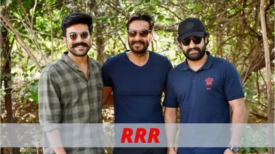 RRR set shooting with Ajay Devgan,Ram Charan and NTR