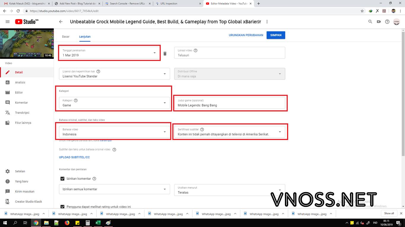 Cara Meningkatkan Viewers dengan Setelan Lanjutan Video 4