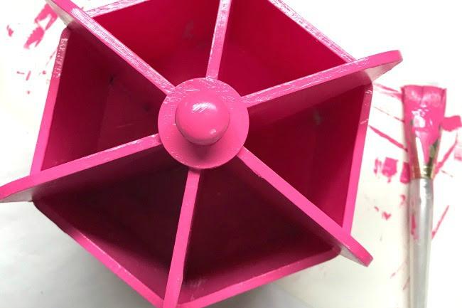 Pretty Pink Desk Organizer