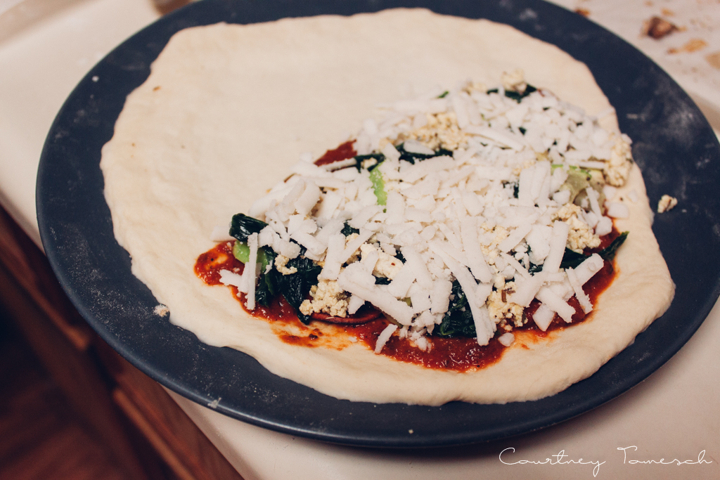 Courtney Tomesch Vegan Calzone