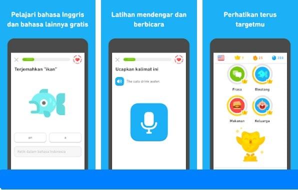 Aplikasi Belajar Bahasa Inggris: Duolingo