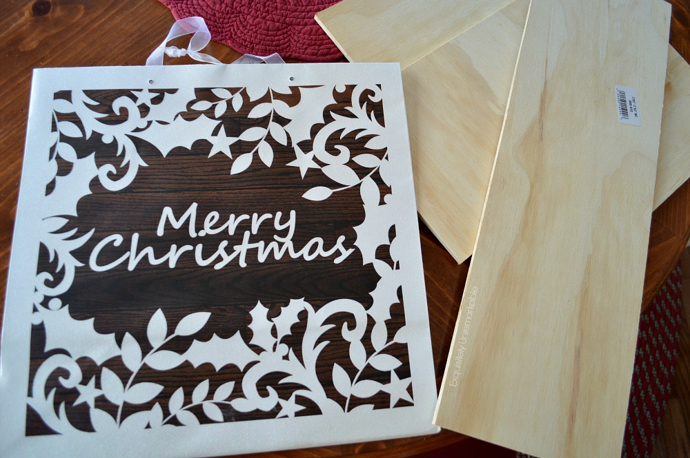 Gift Bag Wooden Sign