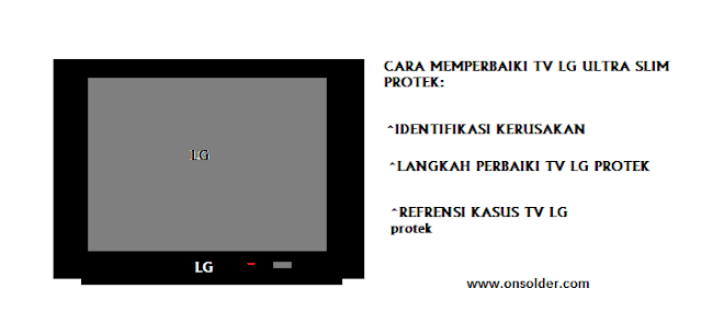 Cara memperbaiki TV LG Ulatra slim Protek