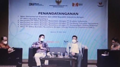UMKM Go Digital! Kementerian Koperasi dan UKM adakan MoU dengan PT Mitra BUMDes Nusantara