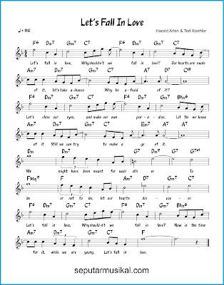 Let's Fall in Love chords jazz standar