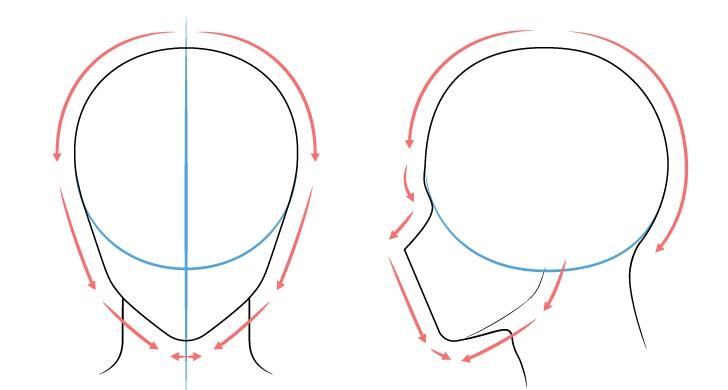 Langkah 1 - Menggambar Kepala