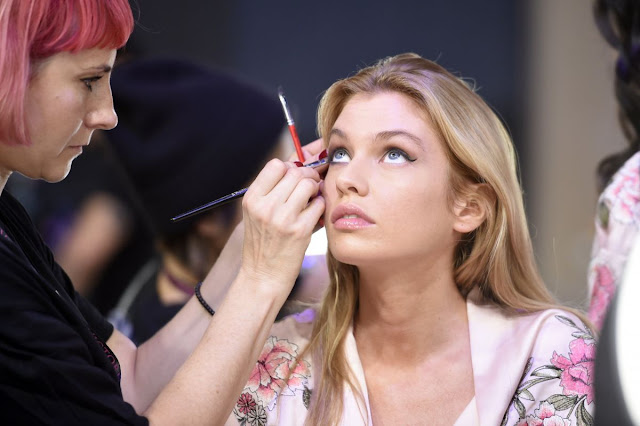 Stella Maxwell on the Backstage at 2017 Victoria's Secret Fashion Show in Shanghai