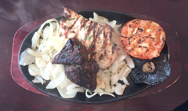 steak and chicken combo meal sizzling pub the anson wallsend