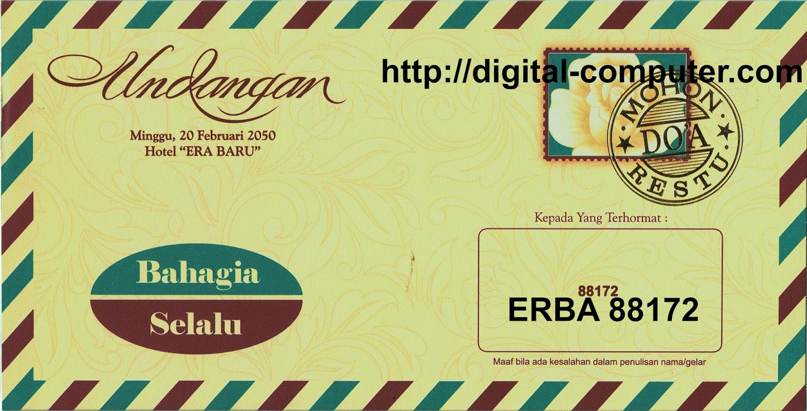 Undangan Softcover ERBA 88172