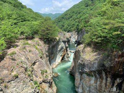 むささび橋から見る龍王峡(上流側)
