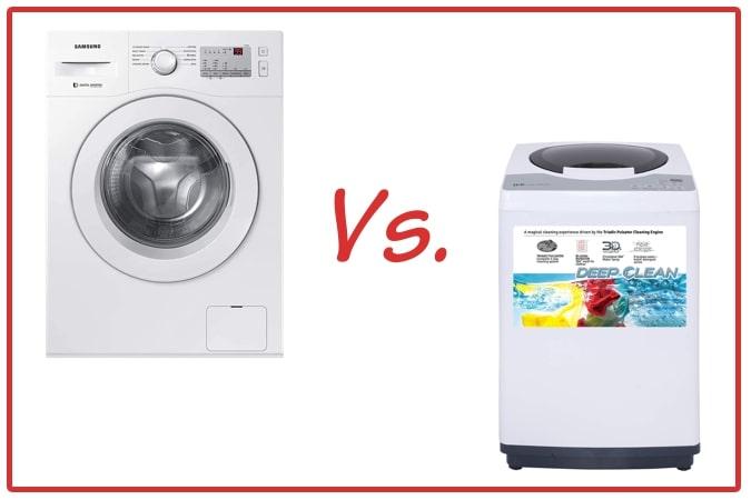Samsung WW60R20GLMA/TL (left) and IFB REW (right) Washing Machine Comparison.