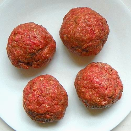 shaped meat ball
