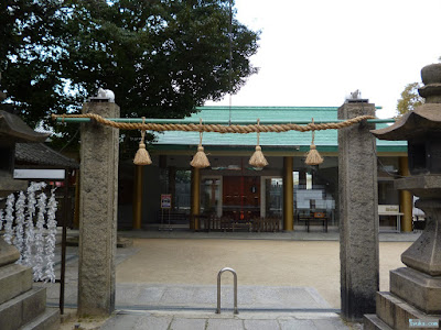 八劔神社注連柱