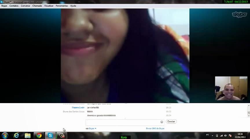Thayane Novinha Gozando no Skype