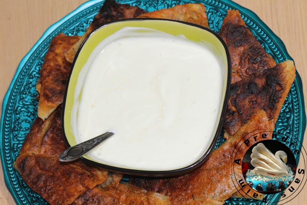 Feuilletés au parmesan et yaourt au miel