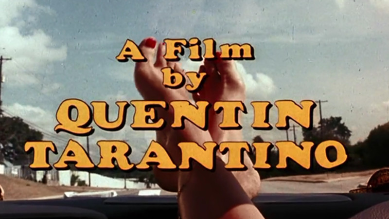 A Film by Quentin Tarantino