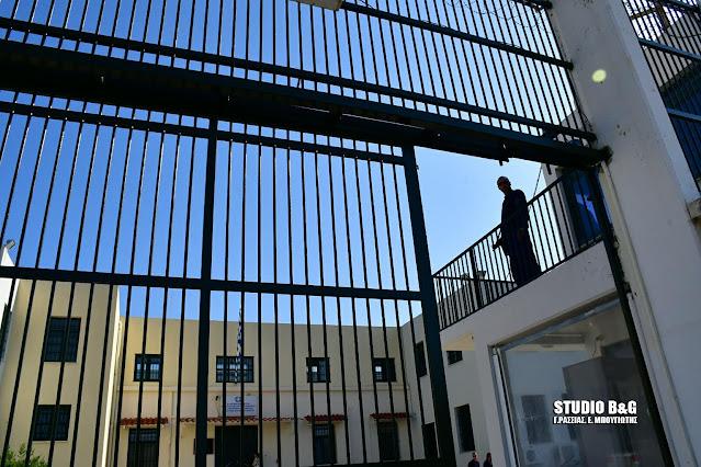 Ευχαριστήρια επιστολή της Διεύθυνσης των Φυλακών Ναυπλίου προς το ΓΕΣ και τον Διοικητή του ΚΕΜΧ